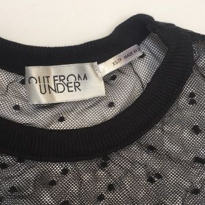 Urban Outfitters Tops - Urban Outfitters Out From Under Swiss Dot Baby Tee